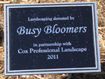 lamdscaping donated by Busy Bloomers in partnership with Cox Professional Landscape 2011